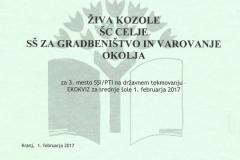 Kranj 2017_EKOKVIZ_Živa 3. mesto